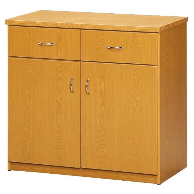 【顛覆設計】潮濕剋星-防水塑鋼2.7尺碗碟櫃/收納櫃(兩色可選)