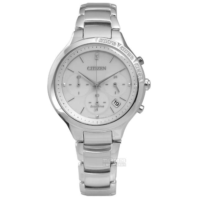【CITIZEN 星辰】經典優雅Hebe配戴廣告款光動能不鏽鋼手錶 灰色 37mm(FB4000-53A)