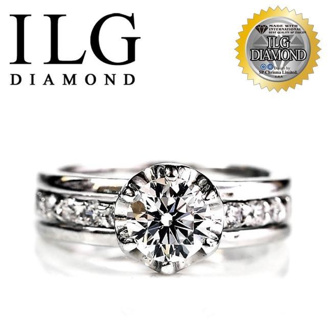 【美國ILG鑽飾】頂級八心八箭擬真鑽石戒指-主鑽1克拉 完美情人款 RI021 結婚求婚首款(戒指)