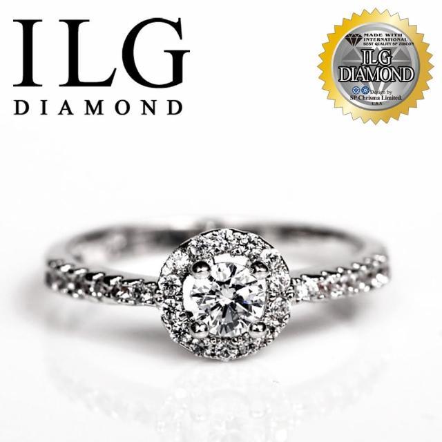 【美國ILG鑽飾】頂級八心八箭鑽石戒指-優雅巴黎款 主鑽約20分 極細緻經典的名品款 RI065(戒指)