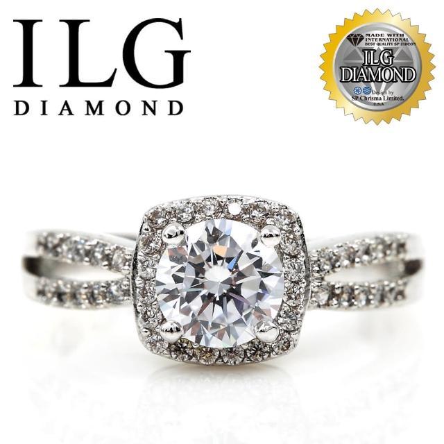 【美國ILG鑽飾】頂級八心八箭擬真鑽石戒指-威尼斯戀人 RI083 主鑽75分 細緻熱銷款(戒指)