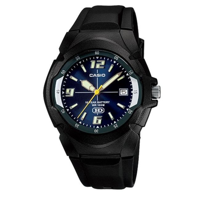 【CASIO】經典前衛設計螢光腕錶(MW-600F-2A)