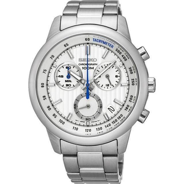 【SEIKO CS】線條時尚計時腕錶(8T68-00A0S/SSB20SP1)