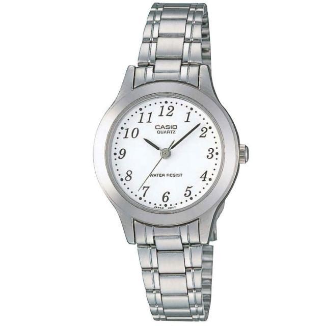 【CASIO】米蘭典雅風情腕錶-數字白面(LTP-1128A-7B)