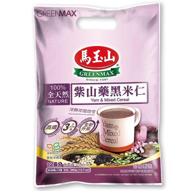 【馬玉山】紫山藥黑米仁12入(100%全天然)