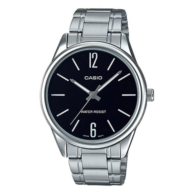 【CASIO 卡西歐】指針男錶 不鏽鋼錶帶 防水(MTP-V005D-1B)