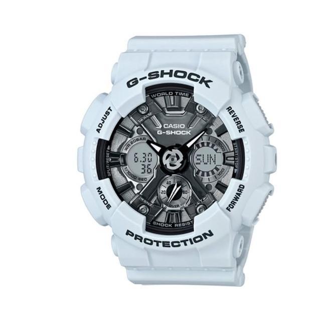 【CASIO 卡西歐】潮流尖端雙顯運動腕錶/限定版(GMA-S120MF-2ADR)