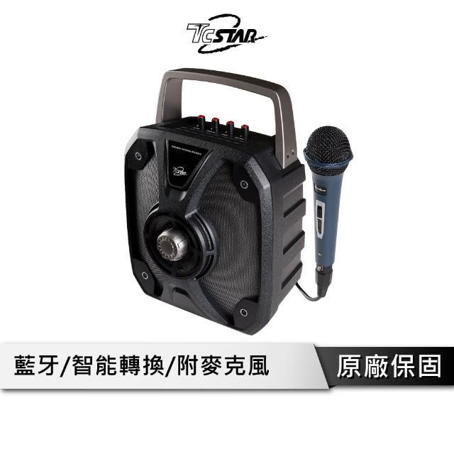【T.C.STAR】多功能攜帶型藍牙喇叭附麥克風-黑(TCS1500)