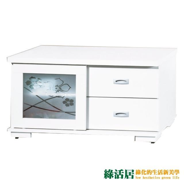 【綠活居】麗娜亞  時尚3尺推門電視櫃/視聽櫃(二色可選)