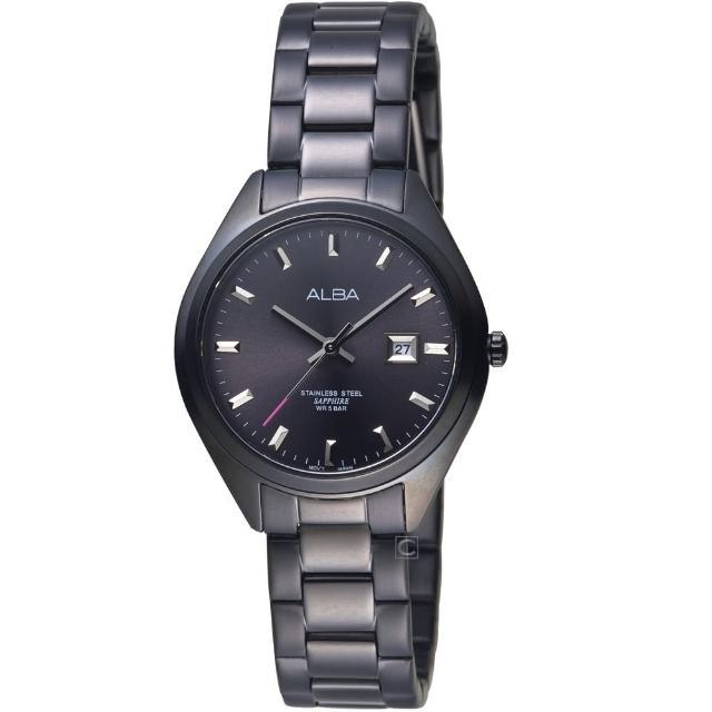【ALBA】漫步都會時尚腕錶(AH7R19X1 VJ22-X280SD 黑)