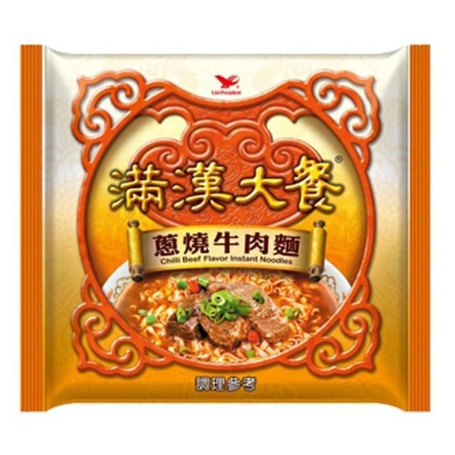 【統一】滿漢大餐蔥燒牛肉麵袋12入/箱