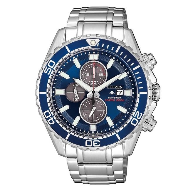 【CITIZEN 星辰】PROMASTER三眼計時時尚腕錶(CA0710-82L)