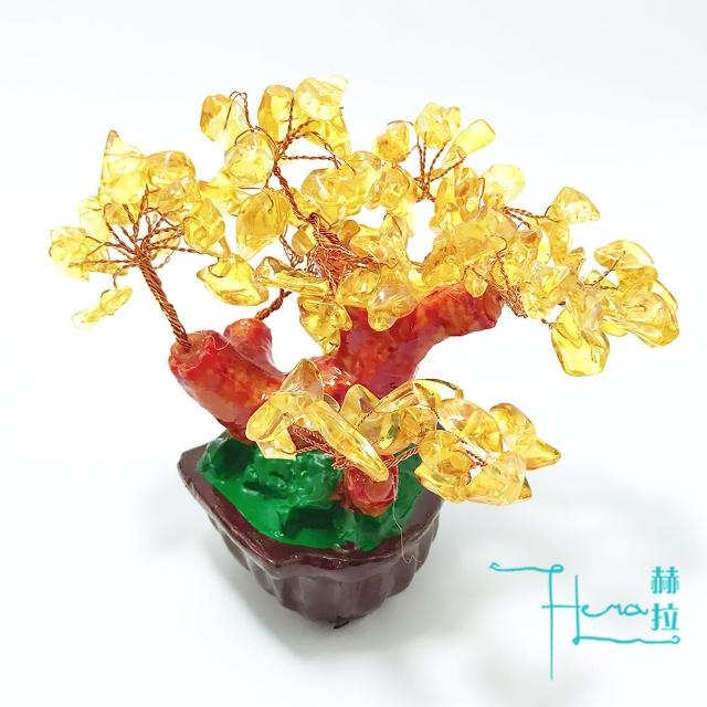 Hera財庫滿溢黃水晶招財樹/發財樹
