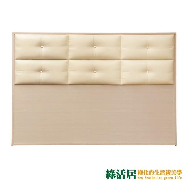 【綠活居】蘇雷斯 時尚5尺皮革雙人洗白床頭片