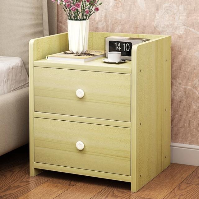 【生活藏室】adore簡約時尚二抽床頭櫃/置物櫃(2色可選 / 雙抽櫃 / 置物櫃)