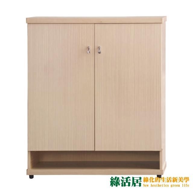 【綠活居】亞力  現代2.9尺二門鞋櫃/玄關櫃(四色可選)