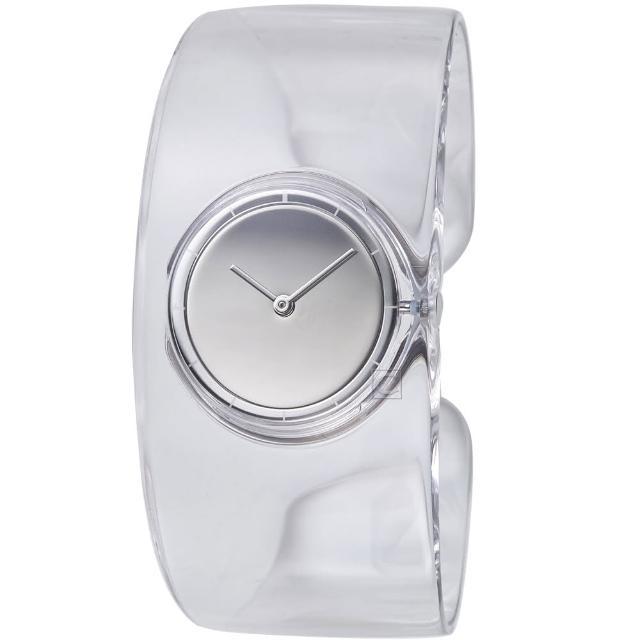 【ISSEY MIYAKE 三宅一生】O系列透明手鐲腕錶(VJ20-0100S SILAW001Y)