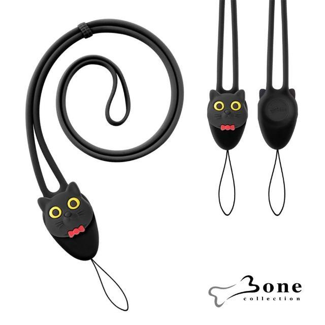 【Bone】大逗扣彈力頸掛繩 - 喵喵貓(證件掛繩 手機掛繩)