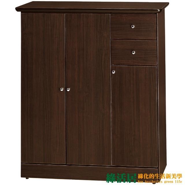 【綠活居】海格   時尚3尺三門單抽鞋櫃/玄關櫃(三色可選)