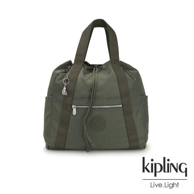 【KIPLING】歐風卡其墨綠兩用側背後背包-大-ART BACKPACK M