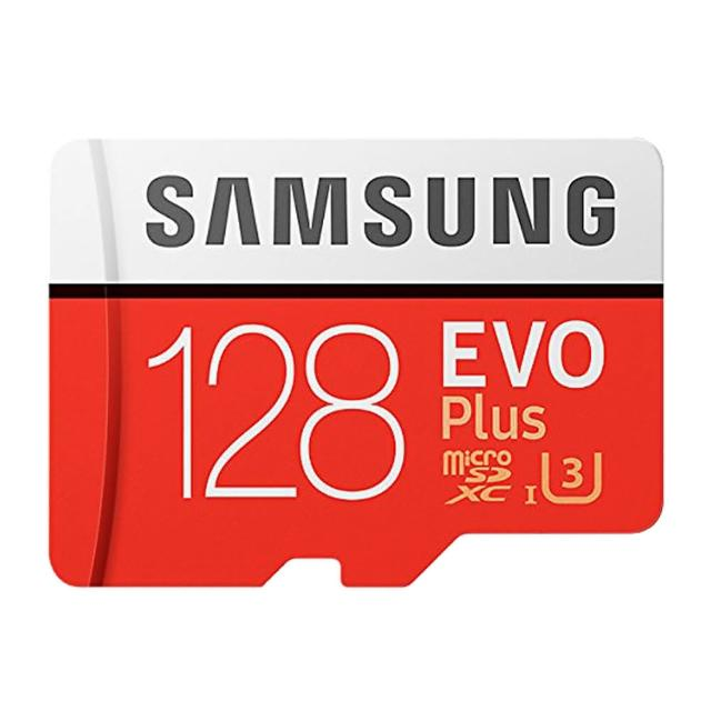 【SAMSUNG 三星】128GB EVO Plus U3 R100/W90mb microSDXC記憶卡(附轉卡)