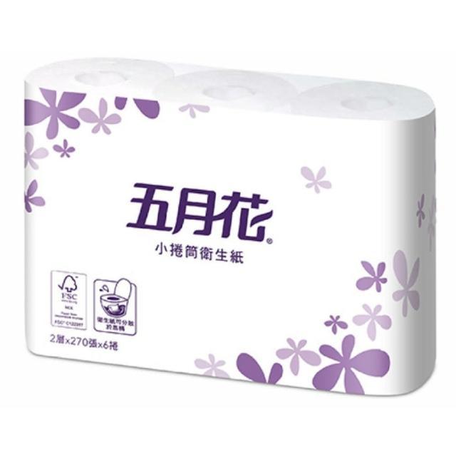 【五月花】小捲筒衛生紙(270張x6捲x16捲)