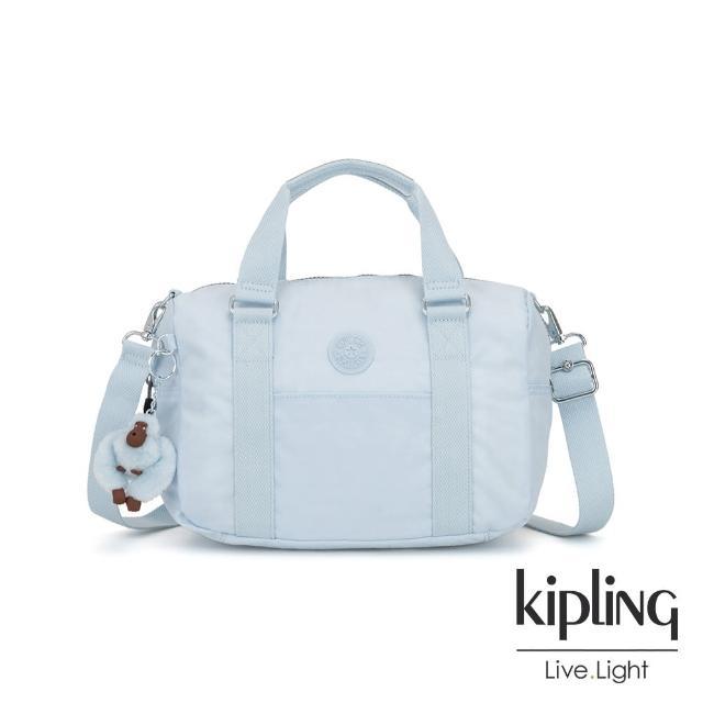 【KIPLING】棉花糖藍手提側背包-CASKA