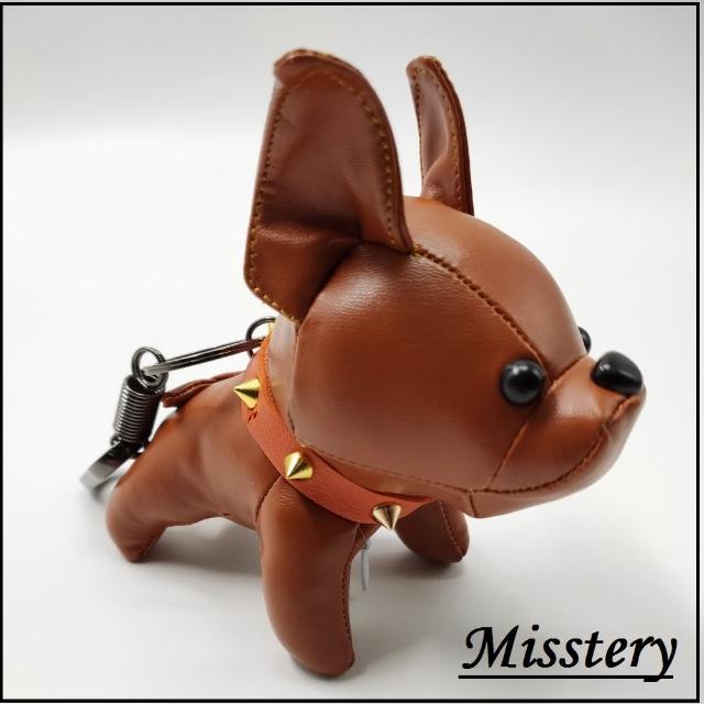 【Misstery】鑰匙圈法鬥犬吊飾-咖啡(鑰匙圈/包包吊飾)