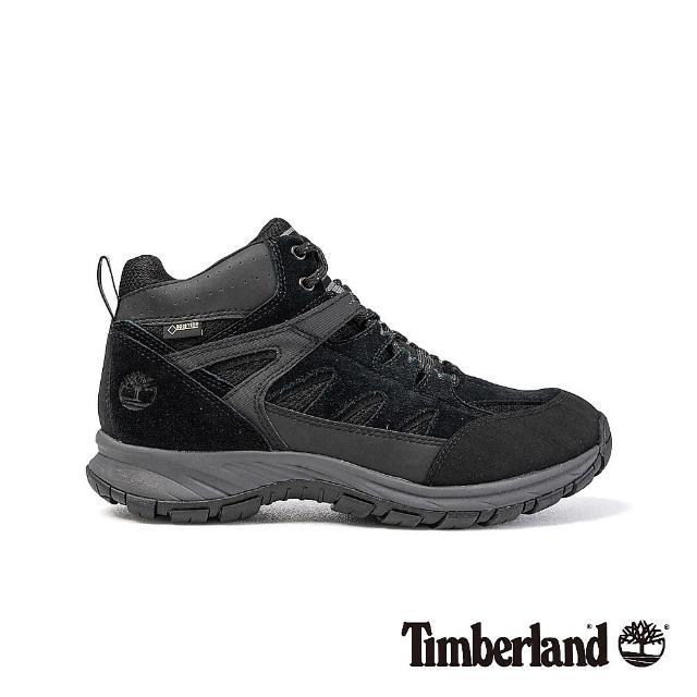 【Timberland】男款 黑色麂皮 Sadler Pass 健行鞋/靴(A1QQC001)