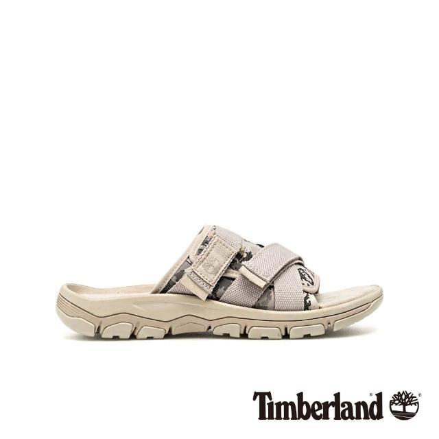 【Timberland】男款陰灰色迷彩拖鞋(A1ZS4F48)