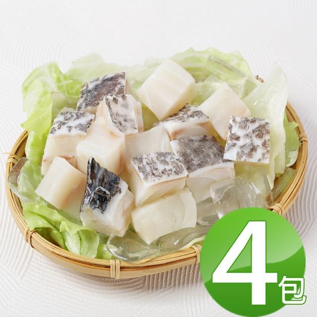 【華得水產】龍膽石斑魚頭切丁4包組(300g/包)