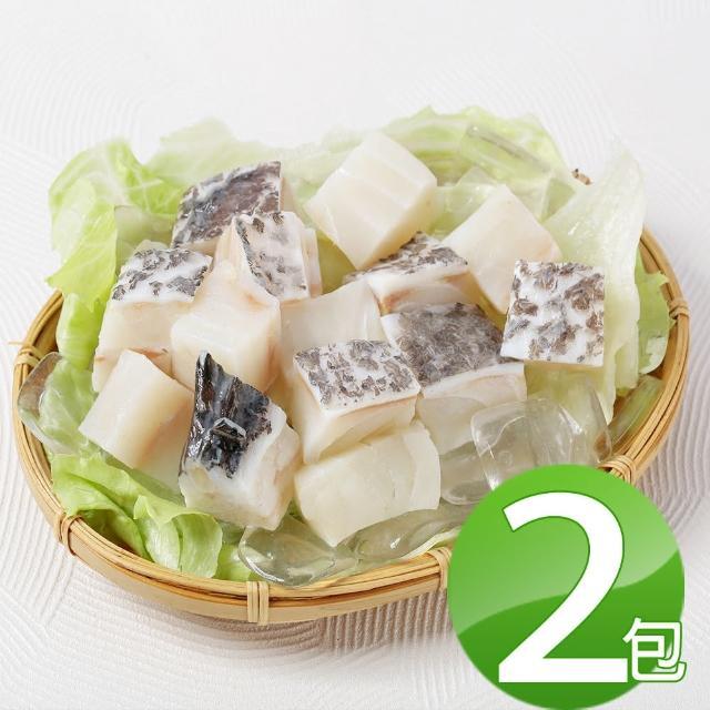 【華得水產】龍膽石斑魚頭切丁2包組(300g/包)