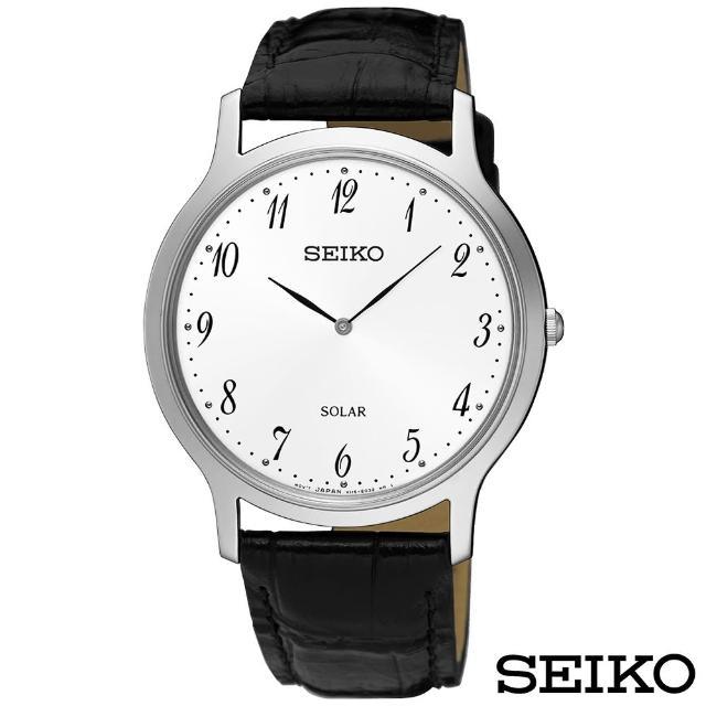 【SEIKO 精工】簡約爾雅超薄太陽能石英腕錶(SUP863P1)