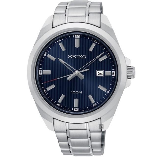 【SEIKO 精工】城市時尚石英手錶-藍x銀/42mm(6N42-00H0B  SUR275P1)