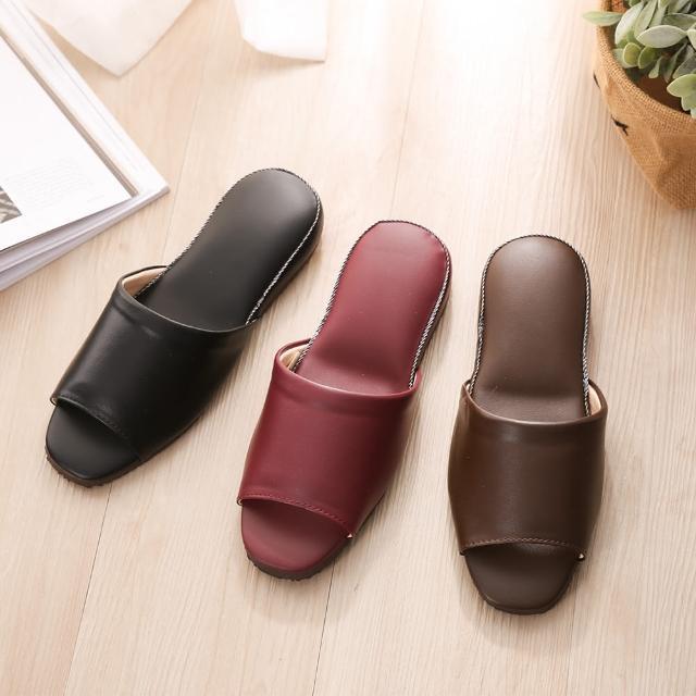 【維諾妮卡】法系優雅舒適皮拖鞋(設計師最愛款 法式質感)
