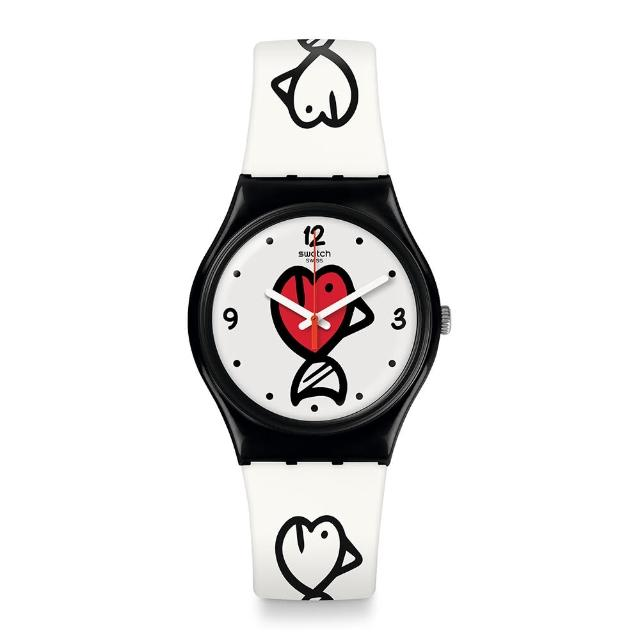 【SWATCH】I love your folk 系列手錶 FISHY FISHY 趣味小魚(34mm)