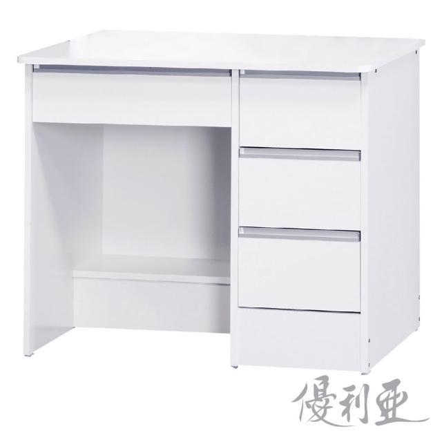 【優利亞-多琳簡約】3尺書桌下座(2色)