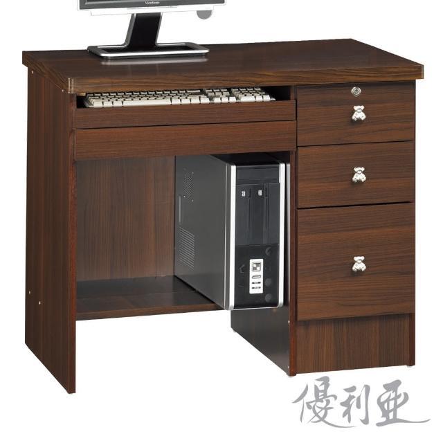 【優利亞-安琪拉胡桃色】3尺電腦書桌(下座)