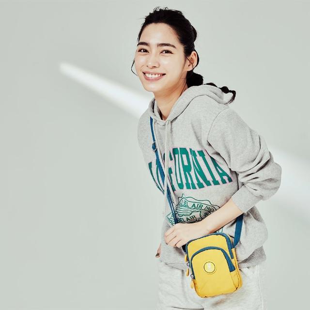 【金安德森】極簡耀色 防潑水多功能夾層小款側背包(黃色)