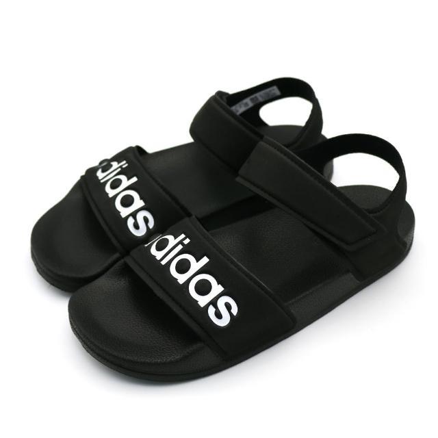 【adidas 愛迪達】ADILETTE SANDAL K 黑-G26879(中童涼鞋)