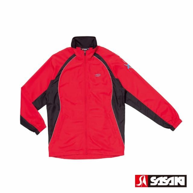 【SASAKI】夜間反光功能透氣式平織運動夾克-男-紅/黑/鮮藍