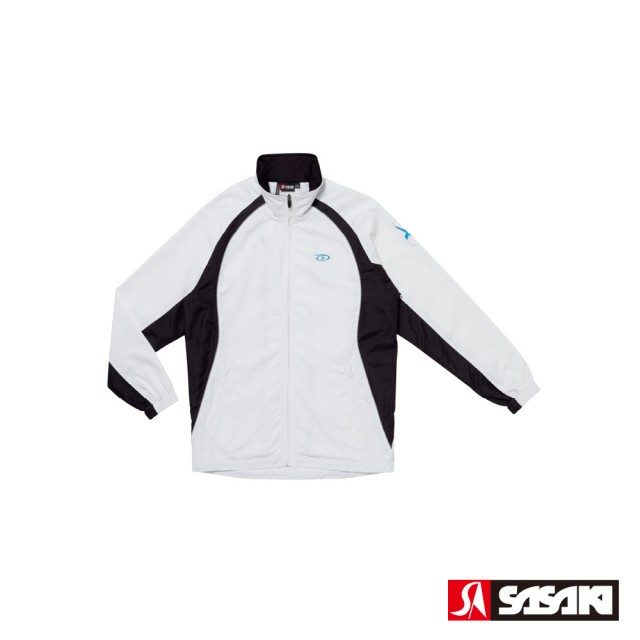 【SASAKI】夜間反光功能透氣式平織運動夾克-男-白/黑/鮮藍