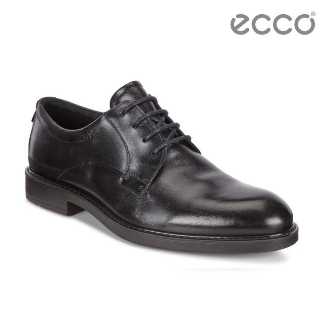 【ecco】VITRUS III 商務正裝綁帶紳士鞋 男(黑 64050401001)