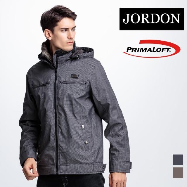【JORDON 橋登】時尚保暖PrimaLoft科技棉外套(801 黑色)