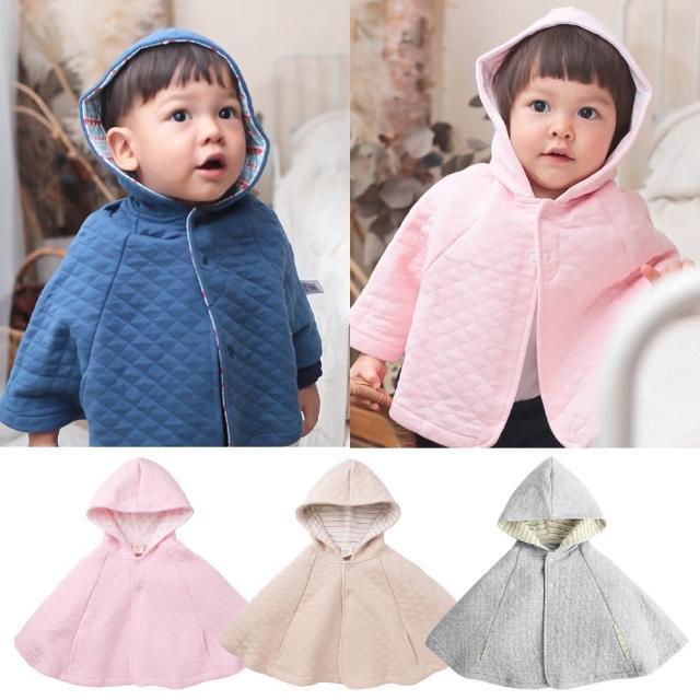 【baby童衣】斗篷 保暖厚棉格紋披肩外套 47025(共四色)