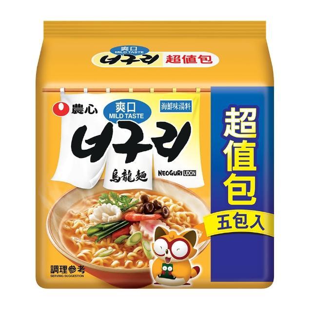 【NONG SHIM】農心 爽口海鮮烏龍麵超值包5入(600g)