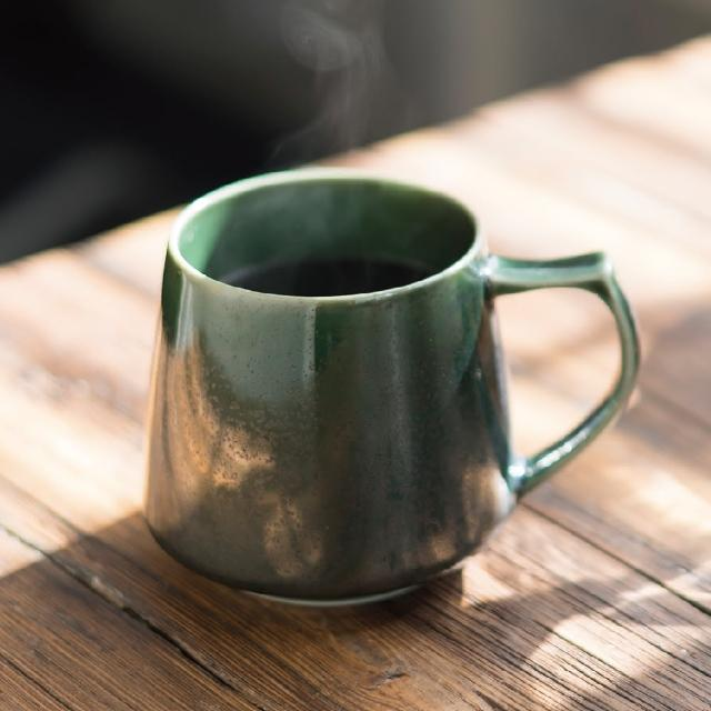 【Cores】KIKI美濃燒馬克杯-瓷製可微波/綠(C811GR)