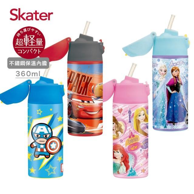 【Skater】吸管 不鏽鋼保溫瓶360ml(迪士尼)
