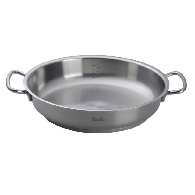 【德國 Fissler】Original Profi 雙耳平底鍋 不鏽鋼鍋28cm