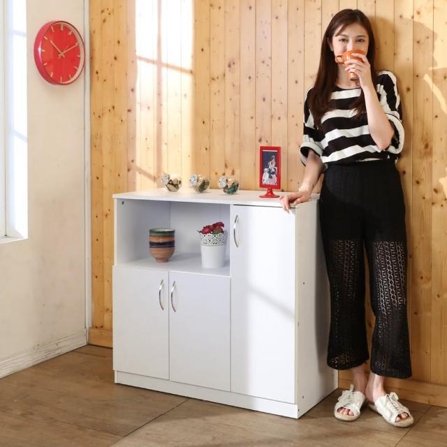 【BuyJM】低甲醛防潑水三門電器櫃/廚房櫃/電器架/收納櫃